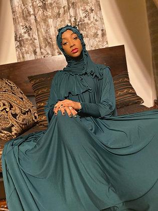 BaZma Hunter Green Jilbab Set