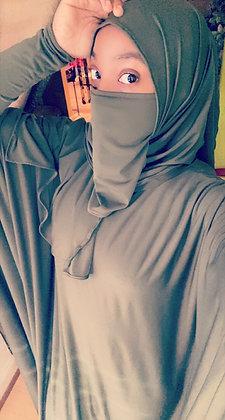 BaZma Olive Green Half Niqaab