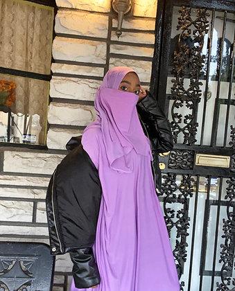 BaZma Lavendar Half Niqaab