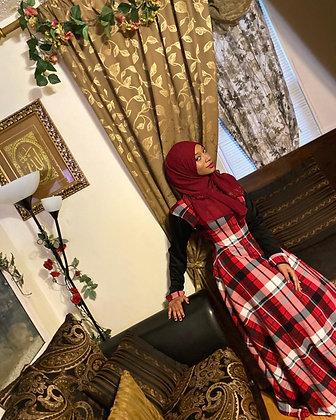 BaZma Red Plaid Dress