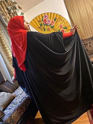 BaZma Signature Black and Red Jilbab Set