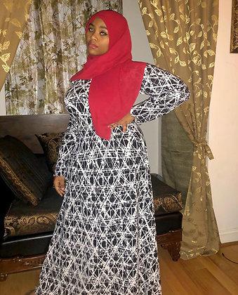 BaZma Static Dress B/W