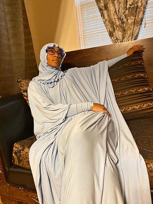 BaZma Baby Blue Jilbab Set