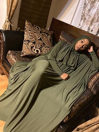 BaZma Olive Jilbab Set