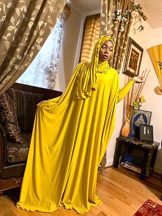 BaZma Gold Drip Jilbab Set