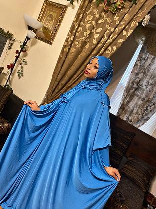 BaZma Sky Blue Jilbab Set