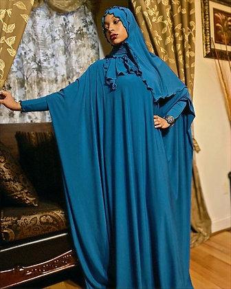 BaZma Jilbab Set in Teal