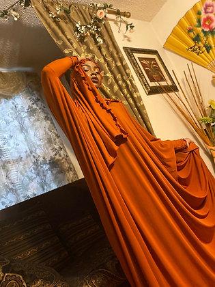 BaZma Spice Orange Jilbab Set