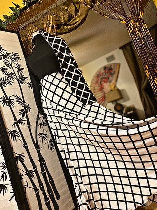 BaZma Geometric Print Turtle Neck Dress Set