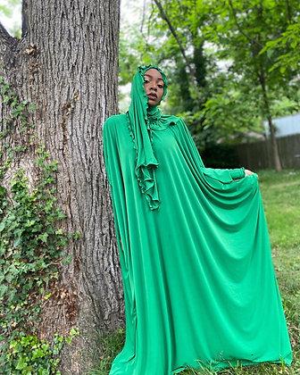 BaZma Grass Green Jilbab Set