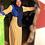 Thumbnail: BaZma Striped Dress Yellow/Blue