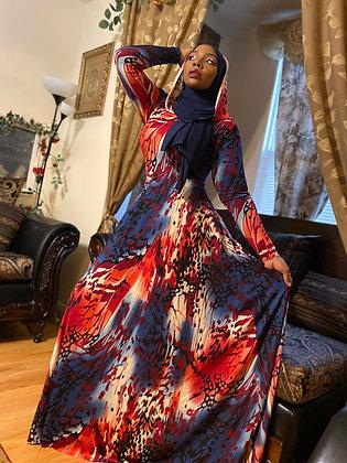 BaZma Autumn Hoodie Dress (Multi Color)
