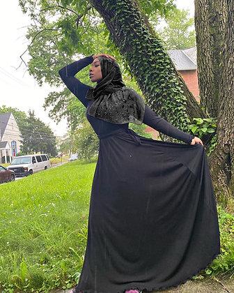 BaZma Black Dress with tie