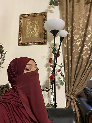 BaZma Burgundy Half Niqaab