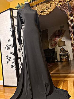BaZma Black Turtle Neck Dress