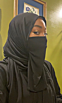 BaZma Black Half Niqaab