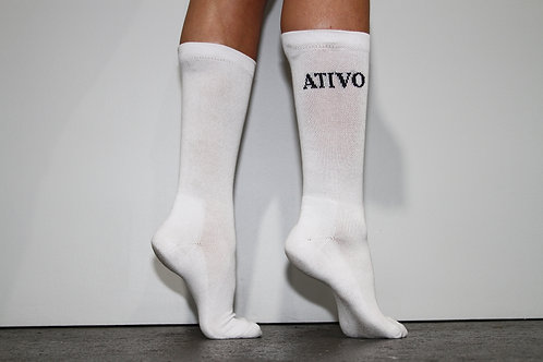 """Ativo"" Cushion Crew Socks"