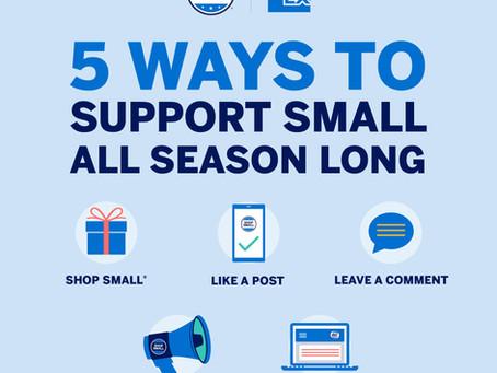 Shop Small Saturday - November 28th, 2020