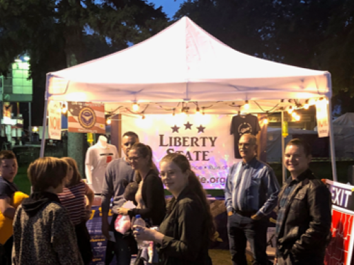 Reaction to 51st State of Liberty fair booth is 90% very positive