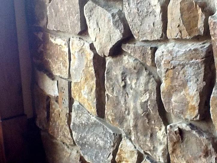 Natural stone textured wall indoors