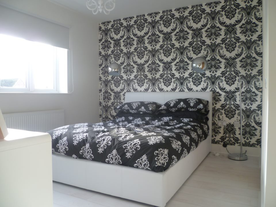 Glamorous bedroom in a newbuild property.