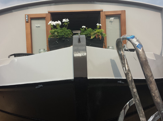 Professional boat painting by Rebecca Richards.