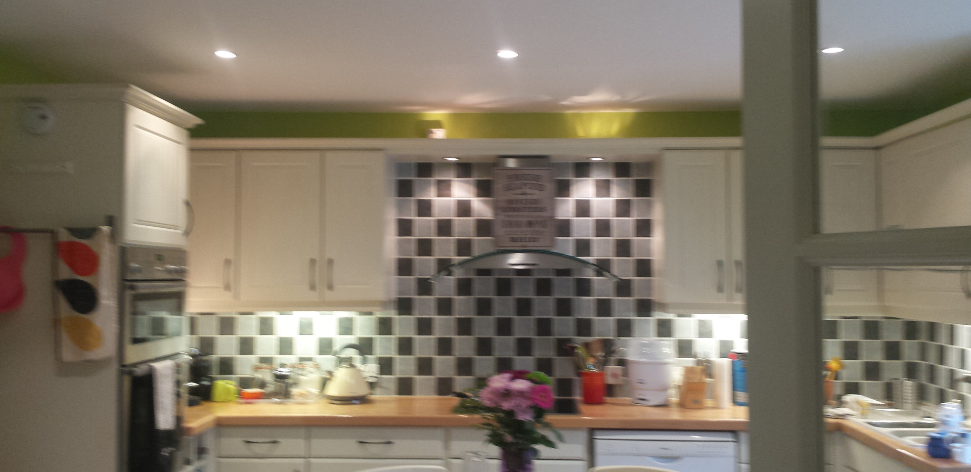 Kitchen makeover in a country cottage.