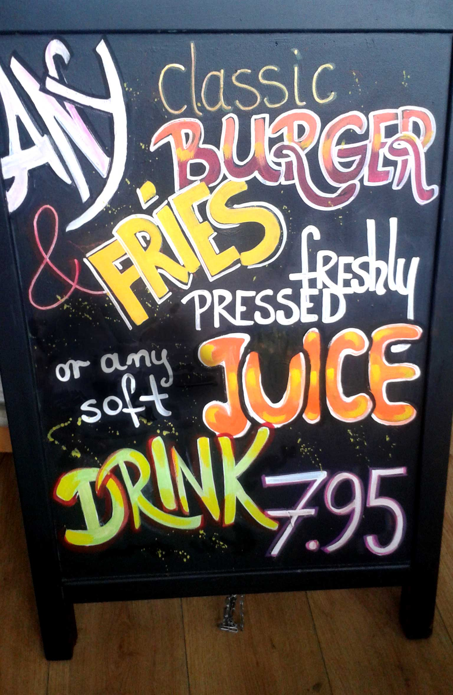 Menu Board with Juice