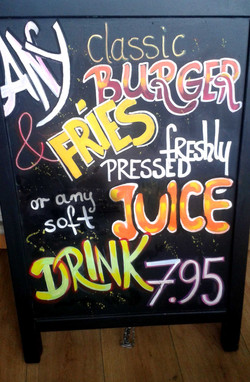 Menu Board with Juice