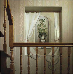 Trompe l'oeil with flowers
