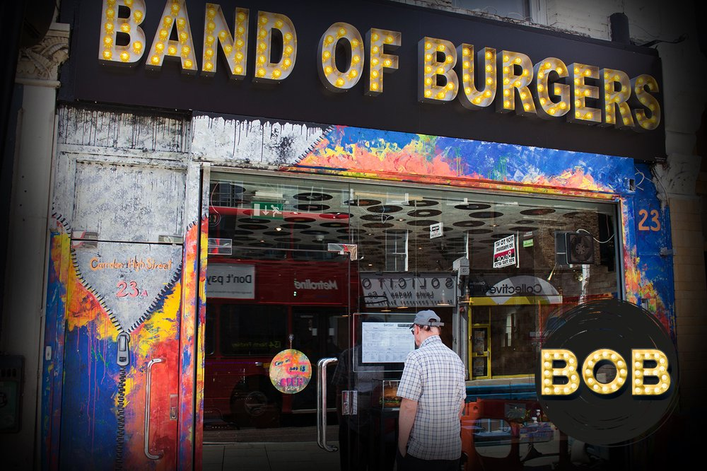 Band of Burgers exterior door
