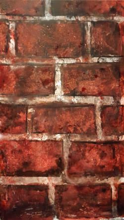 Red Brick Wall Finish
