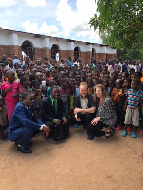 EchoAfrica team with the children