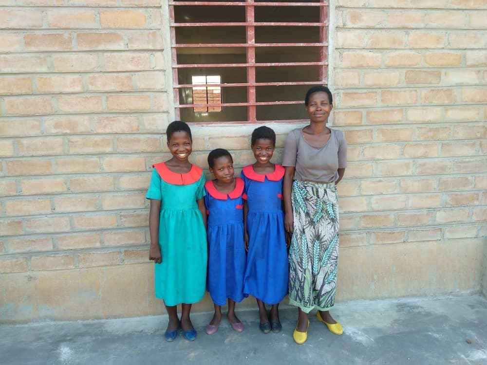 Three Daughters with Their Mother, Afterwards. All smiles!
