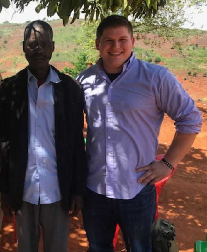 Josh with Pastor Duncan