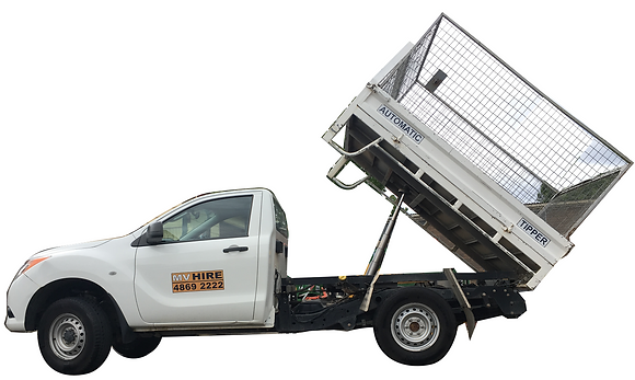 4X4 Automatic Tipper Ute for Hire from MV Hire