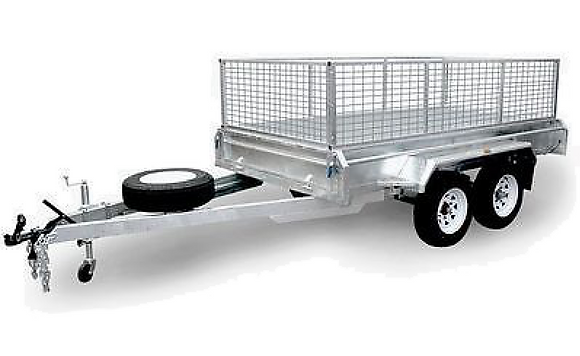 12 x 6 Box Trailer with Cage for Hire