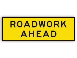Roadwork Ahead Sign for Hire from MV Hire