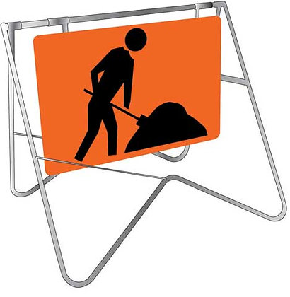 Men at Work Sign for Hire from MV Hire