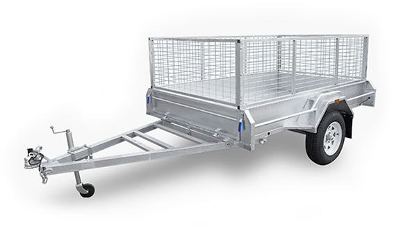 Box Trailer with Cage for Hire