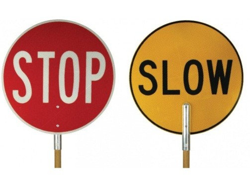 Stop Slow Lillipop Sign for Hire from MV Hire
