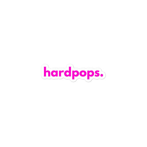 pink hardpops. sticker