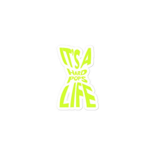 lime 'it's a hardpops life' sticker.