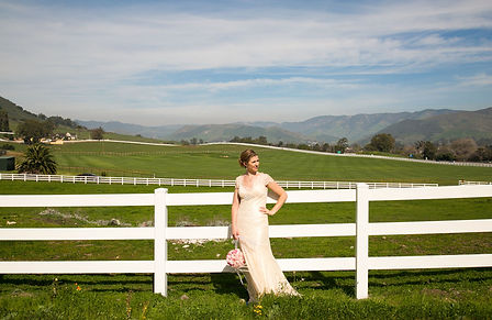 Bride Portrait, in the Field