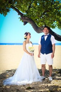 Groom-and-bride-under-hawaiian-tree-on-beach.jpg