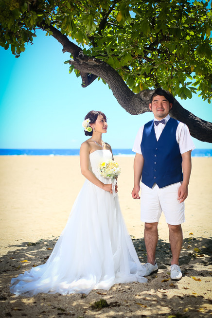 Groom-and-bride-under-hawaiian-tree-on-beach.jpg