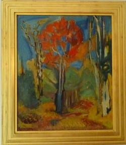 Autumn-Red, Orange & Blue