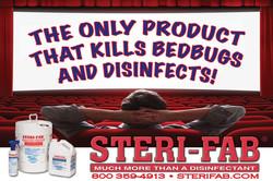 Sterifab Ad-kill bedbugs, disinfect