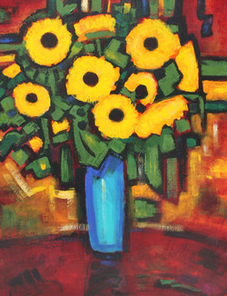Philip Barter - Sunflowers