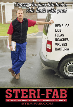 Sterifab Ad - Bed bugs in cars